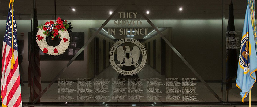 Photo of the National Cryptologic Memorial Wall