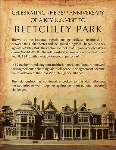 Infographic - Celebrating the 75th Anniversary of a Key U.S. Visit to Bletchley Park