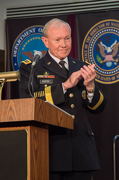 GEN Martin Dempsey pays tribute to the Alexander family
