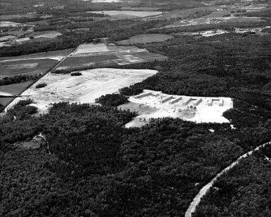 Aerial photograph of showing future site of the National Security Agency at Fort Meade