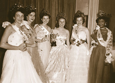 Contestants in the Miss NSA Pageant held annually in the 1950s and early 1960s