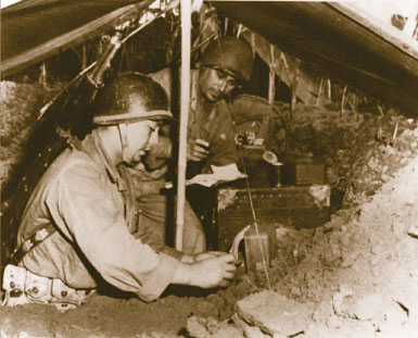 Cryptologists in Korea. The Army Security Agency (ASA) was responsible for supplying the Army's codes and ciphers, Korea, 1950s.
