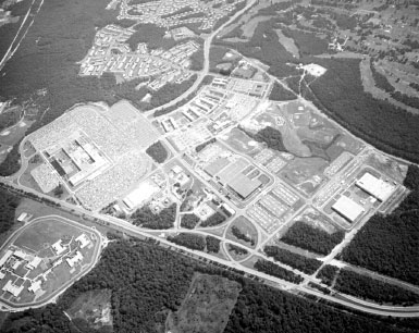 Aerial view of the National Security Agency