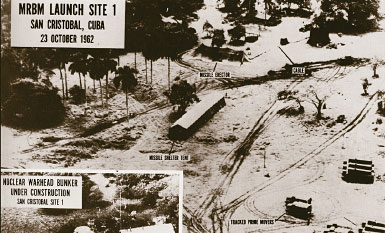 Soviet strategic missile sites under construction in Cuba, 1962