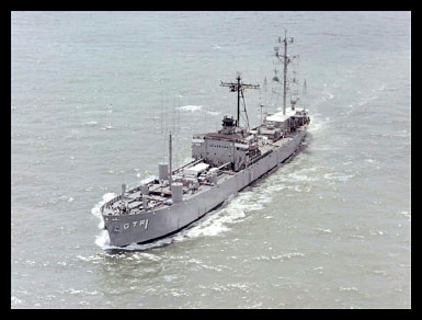 U.S.S. Oxford, a Navy COMINT collection vessel during the Cuban Missile Crisis