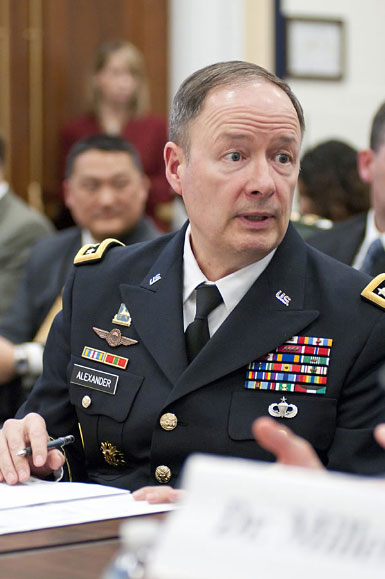 NSA Director GEN Keith B. Alexander, USA, providing congressional testimony to the House Committee on Armed Services