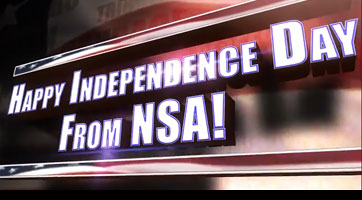 Screenshot of Independence Day 2015 title screen from video