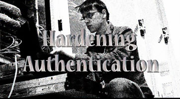 Screenshot of title screen from Hardening Authentication video